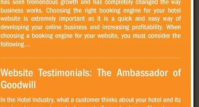 Website Testimonials: The Ambassador of Goodwill