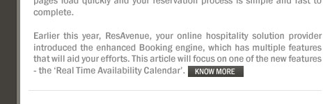 New Real Time Availability Calendar Feature Enhances Guest Reservation Experience