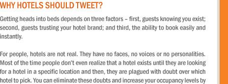 Why hotels should tweet?