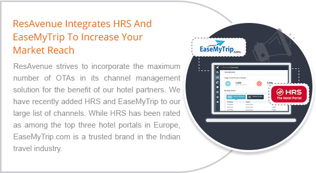 ResAvenue Integrates HRS And EaseMyTrip To Increase Your Market Reach