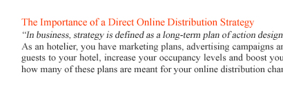 The Importance of a Direct Online Distribution Strategy