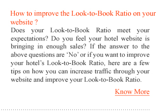 How to improve the Look-to-Book Ratio on your website?