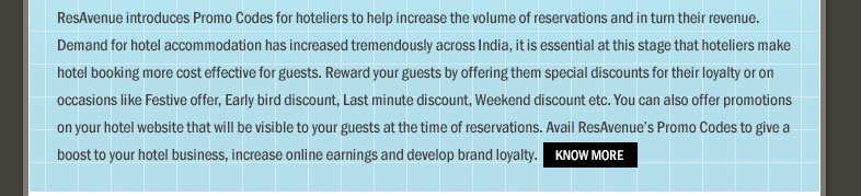 Configure Promo Codes To Maintain Customer Loyalty & Increase Booking Volumes