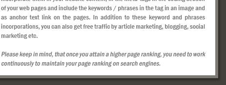 Attaining Higher Ranking on Search Engines