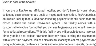 Invoice Effortless for Negotiated Group Reservations