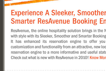 Experience A Sleeker, Smoother and Smarter ResAvenue Booking Engine