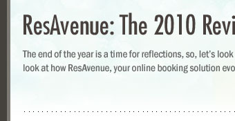 ResAvenue: The 2010 Review