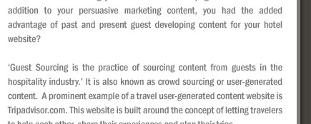 Guest Sourcing can Enhance your Hotel Website