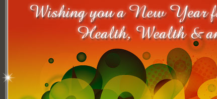 Wishing you a New Year filled with Health, Wealth & an abunance of Guests