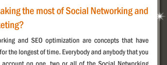 Are you making the most of Social Networking and SEO Marketing?