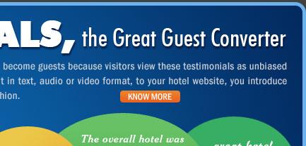 Testimonials, the Great Guest Converter