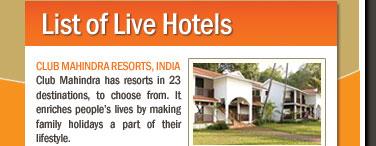 List of Live Hotels