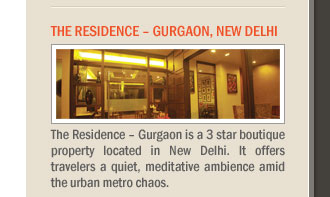 The Residence – Gurgaon, New Delhi