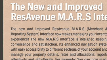 The New and Improved ResAvenue M.A.R.S Interface