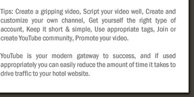 YouTube: A Unique Hotel Marketing Strategy