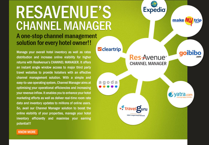 ResAvenue's Channel Manager: A one-stop channel management solution for every hotel owner!!