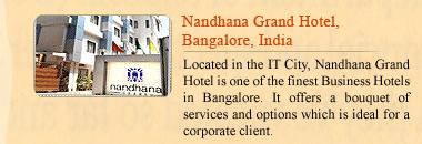 Nandhana Grand Hotel, Bangalore, India
