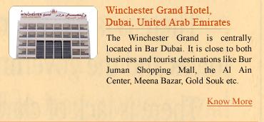 Winchester Grand Hotel, Dubai, UAE