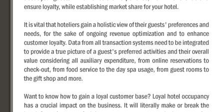 How to gain customer loyalty?