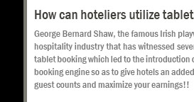 How can hoteliers utilize tablets and smartphones better to enhance their business prospects?