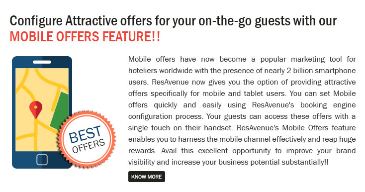 Configure Attractive Offers for Your on-the-go Guests with our Mobile Offers Feature!!
