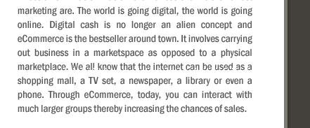 E-Commerce or T-Commerce?