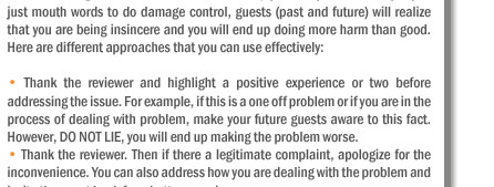 Be a Spin Doctors & Avoid the Pitfalls Created By Negative Guest Feedback